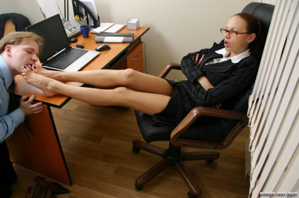 Female/female domination in the office